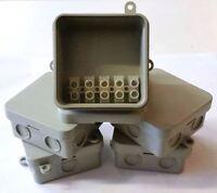 100 X Verbindungsstelle Boxen 65 65 30mm Wasserfest Anlage Box + 15amp Terminal