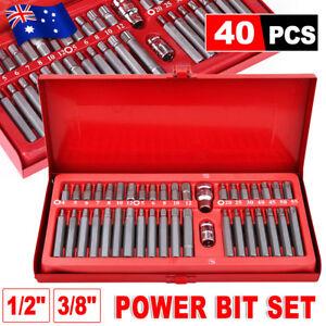 40pcs-Allen-Key-Torx-Star-Spline-Hex-Socket-Bit-Set-3-8-034-amp-1-2-034-Drive-Long-Deep-JD