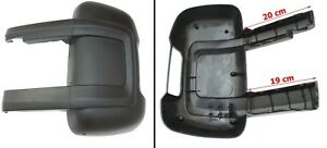 Spiegelkappe Gehäuse Links Schwarz für Fiat Ducato Peugeot Boxer 250
