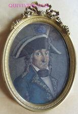 PORTRAIT MINIATURE du GENERAL AUGEREAU Duc de Castiglione - EMPIRE