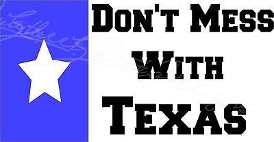 """3.75/""""x7.5/"""" Don/'t Mess with Texas Gun Decal Vinyl Bumper Sticker"""