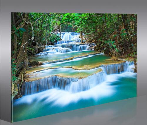 Waterfall 1p Bild auf auf Leinwand Wandbild Poster Kunstdruck Natur Bilder