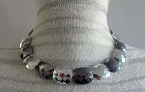 Collana girocollo dichiarazione Collana di perline Ridotto a Trasparente 80 S Disco Collana