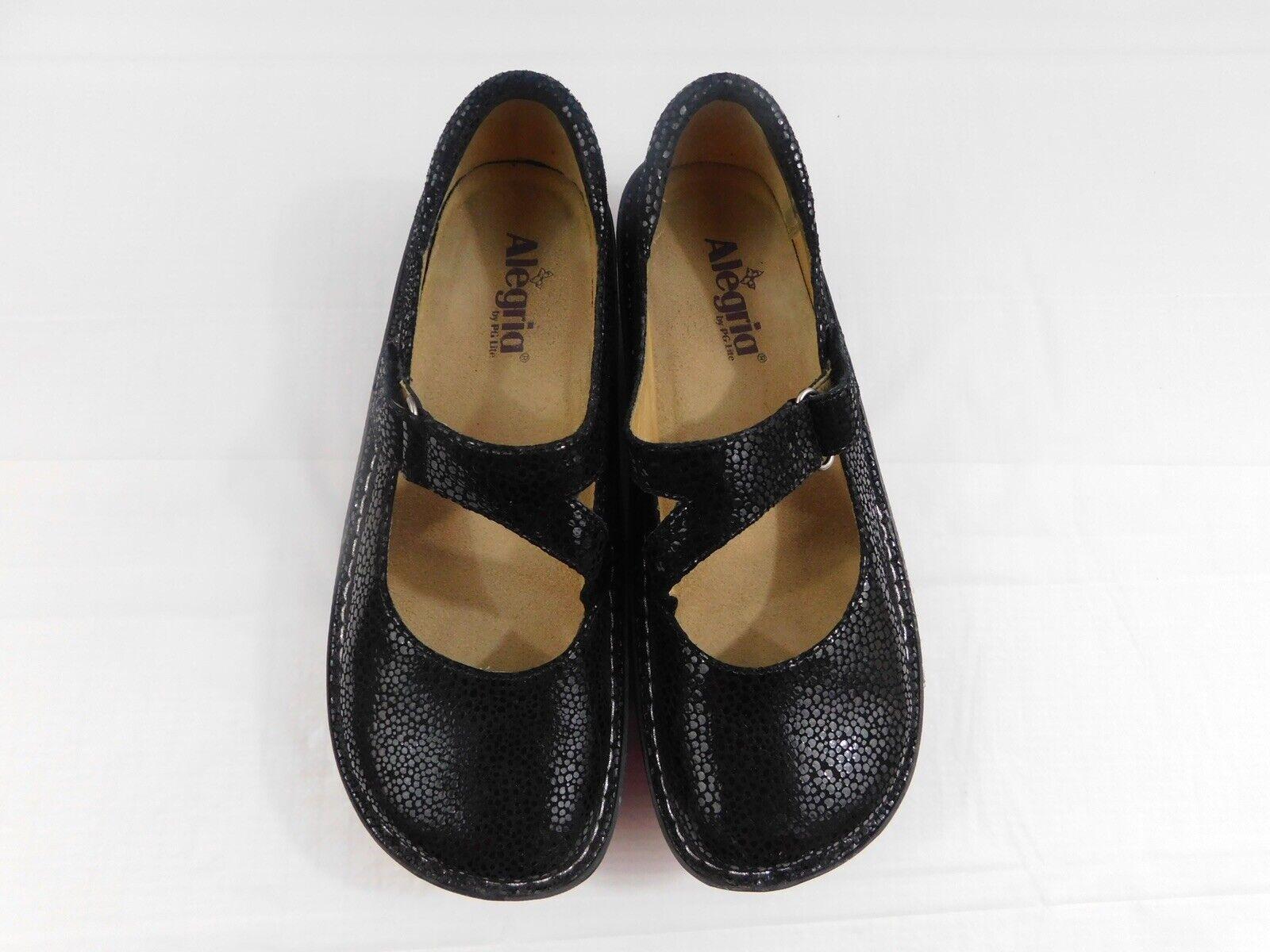 Alegria Day-561 chaussures femmes noir EU 40 US 9 cuir Mary Jane Jill Travail Chaussure