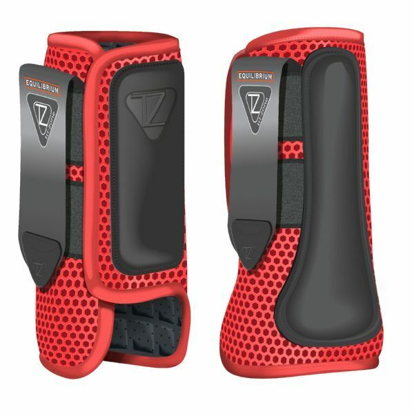 Equilibrium Products New Tri-Zone Impact Sports Boots Front  and Hind Red  healthy