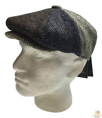 FAILSWORTH Lewis Harris Tweed Cap 100% Wool Flat Driving Newsboy Baker Hat Warm