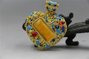 Chinese Delicate Cloisonne Inlaid Rhinestone Pendant