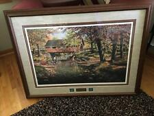 ROCK FORD & TOLL BRIDGE Ken Zylla Prof Framed 238/960 Signed Plate Pcs Ret AP