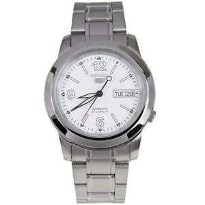 Seiko-5-Automatic-SNKE57-SNKE57K1-Men-Day-Date-White-Dial-Stainless-Steel-Watch
