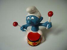 Figurine Schlumpf Smurfs 20009 2.0009 Schtroumpfs Tambour / [ W.Germany PEYO ]