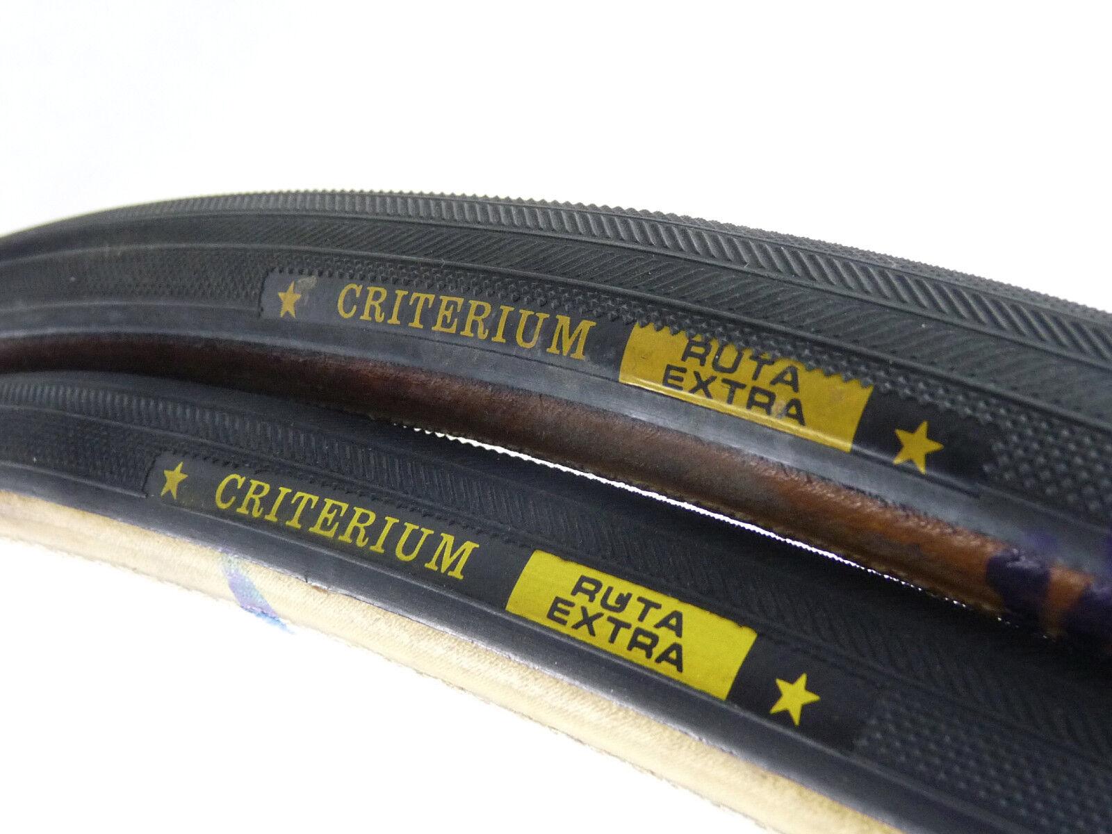 Tire Set Criterium Ruta Extra tubular vintage Road Bike 700c 27  silverina NOS