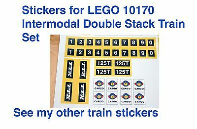 Custom LEGO TTX Intermodal Double-Stack Car 10170 CSX