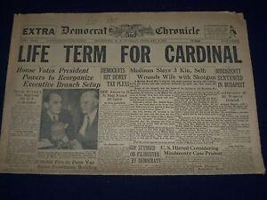 1949 FEB 8 DEMOCRAT & CHRONICLE NEWSPAPER - LIFE TERM FOR CARDINAL - NP 1625