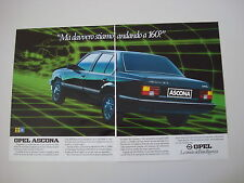 advertising Pubblicità 1983 OPEL ASCONA 1.6 D