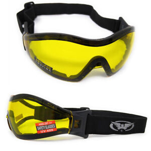 Global-Vision-Z-33-Yellow-Tinted-UV400-Equestrian-Jockey-Horse-Riding-Goggles
