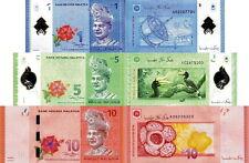 MALESIA - Malaysia Lot Lotto 3 banconote 1/5/10 Ringgit 2012 FDS - UNC