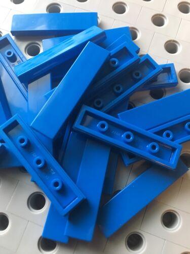 Lego 1x4 Blue Tiles Smooth Finishing Flat Modular Buildings New 25 Pcs