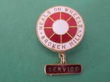 Meals on Wheels Service Enamel Badge Named on reverse
