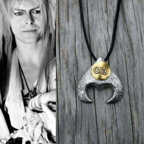 Labyrinthe Costume Collier Roi Gobelin David Bowie Movie Jareth 20 Cuir Noir