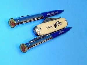TWO PACKARD WRITING PENS AND A 1953 PACKARD POCKET KNIFE~ALL MADE IN USA