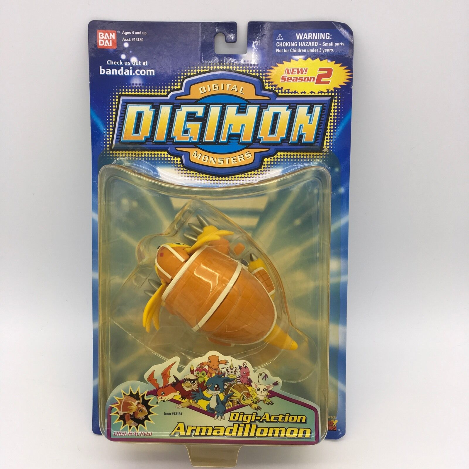 Digimon Armadillomon Digi Action Season 2  13181 Bandai 2000 New