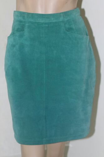 VINTAGE BAGATELLE MOSS GREEN FULLY LINED SUEDE LEA