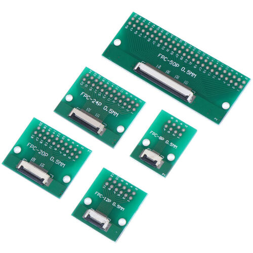 8P //12P //20P //24P //50Pin 0,5mm FFC FPC zu DIP 2,54mm PCB Konverter Board Adap /%F