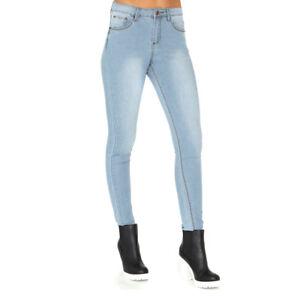 0026a304475 Faded High Waist Bleach Stone Wash Skinny Turn Up Cuff Denim Jeans ...