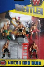 Mini Childrens WWE Power Wrestling Action Figures Toys Cake Figurines Ages 3+