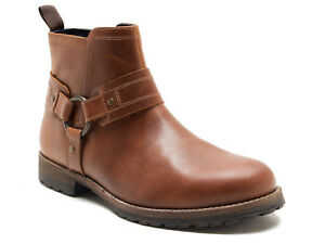 Details zu Red Tape Bradley Men's Tan Leather Zip Up Worker Boots Free UK P&P!