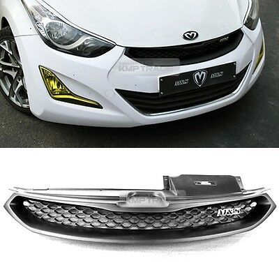 For HYUNDAI 2014 - 2015 Elantra MD M&S Front Hood Radiator Grille Matt Black