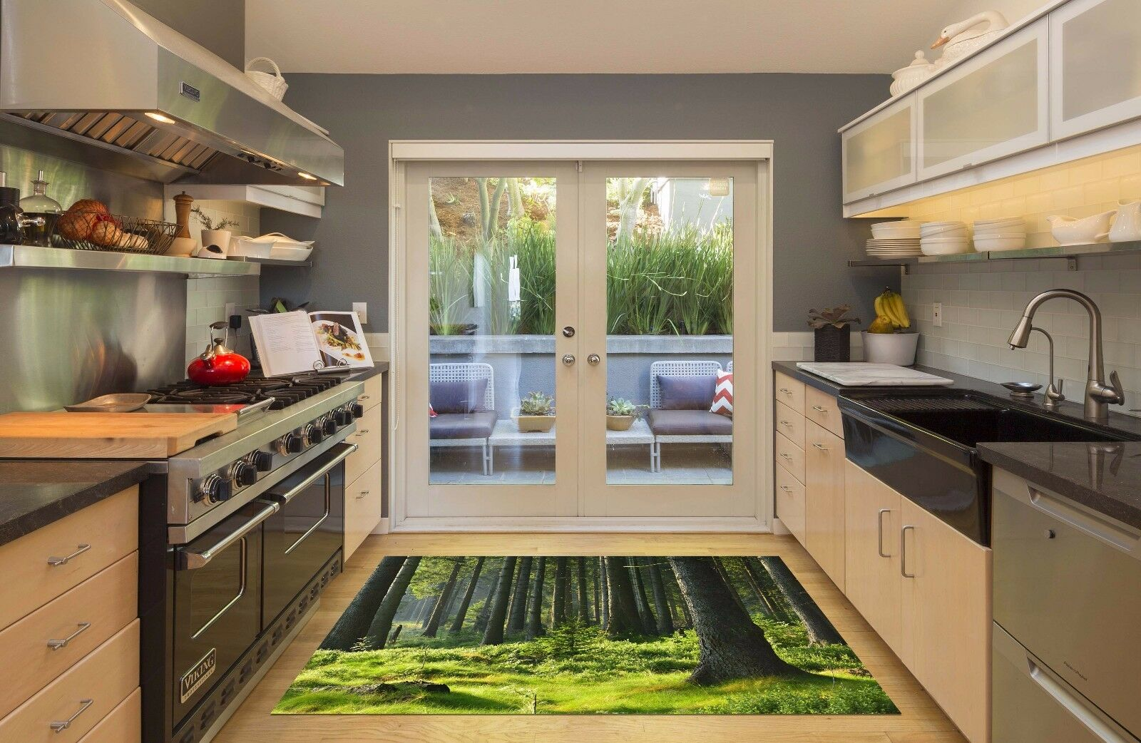 3D Forest Lawn 888 Kitchen Mat Floor Murals Wall Print Wall Deco UK Carly