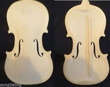 4/4 violin old spruce top half finished with violin bass bar