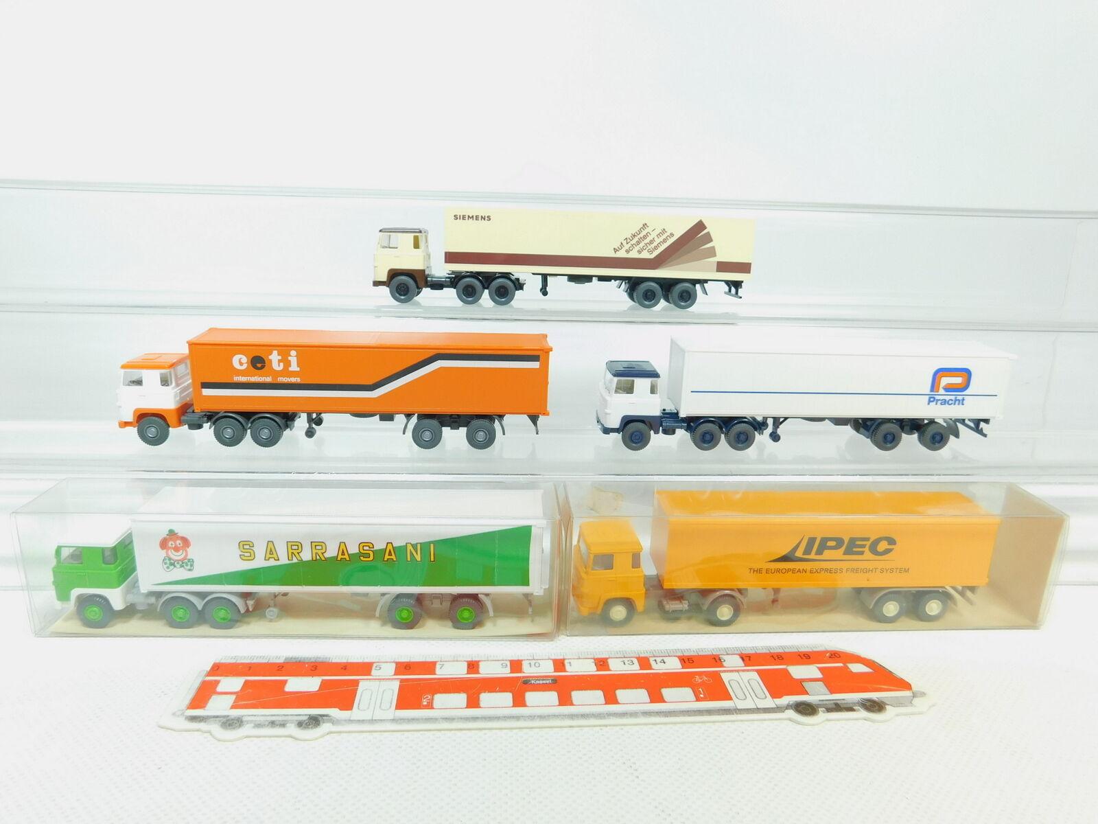 BN83-0,5x Wiking H0 1 87 LKW Scania  IPEC+Sarrasani+ceti+Pracht+Siemens NEUW
