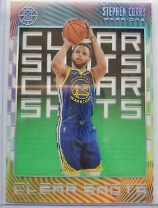 2019-20-Panini-Illusions-Stephen-Curry-Clear-Shots-Emerald-Parallel-9-Warriors