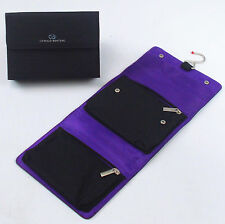 Designer OZWALD BOATENG Travel Wash Bag Toiletry Cosmetic Hanging Case Purple