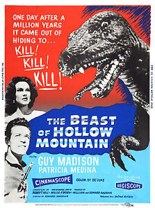 THE-BEAST-OF-HOLLOW-MOUNTAIN-Movie-Poster-1956-Godzilla-Sci-Fi-Monsters