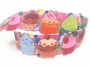 DIY-1-039-039-25MM-Big-bread-Printed-Grosgrain-Ribbon-Hair-Bow-Sewing-Ribbon-5-100yards