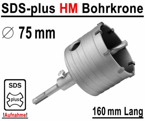 SDS-Plus HM Trépan ø 75 mm x 160 mm Doses Perceuse Kernbohrer Carbure Fraise carbure