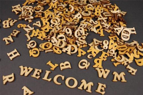 250+ Holz kleine Buchstaben NF14 4cm Alphabet Dekoration Selbstklebend Lesen