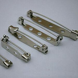 50X-Broschennadeln-Basteln-Silber-Eisen-Anstecknadeln-Schmuck-Pin-Kleidung-DIY
