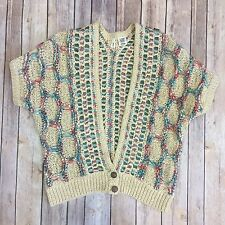 Anthropologie MOTH Crochet Ribbon Cardigan Sweater Shrug Size L $138