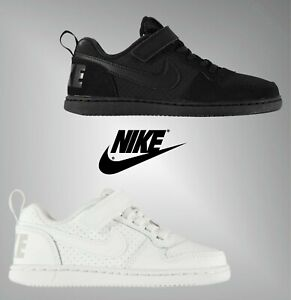 Boys-Nike-Padded-Hook-And-Loop-Court-Borough-Trainers-Sizes-from-C10-to-2