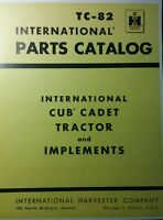 Ih Cub Cadet Original Lawn Garden Tractor Parts Manual 58pg Tc-82 International