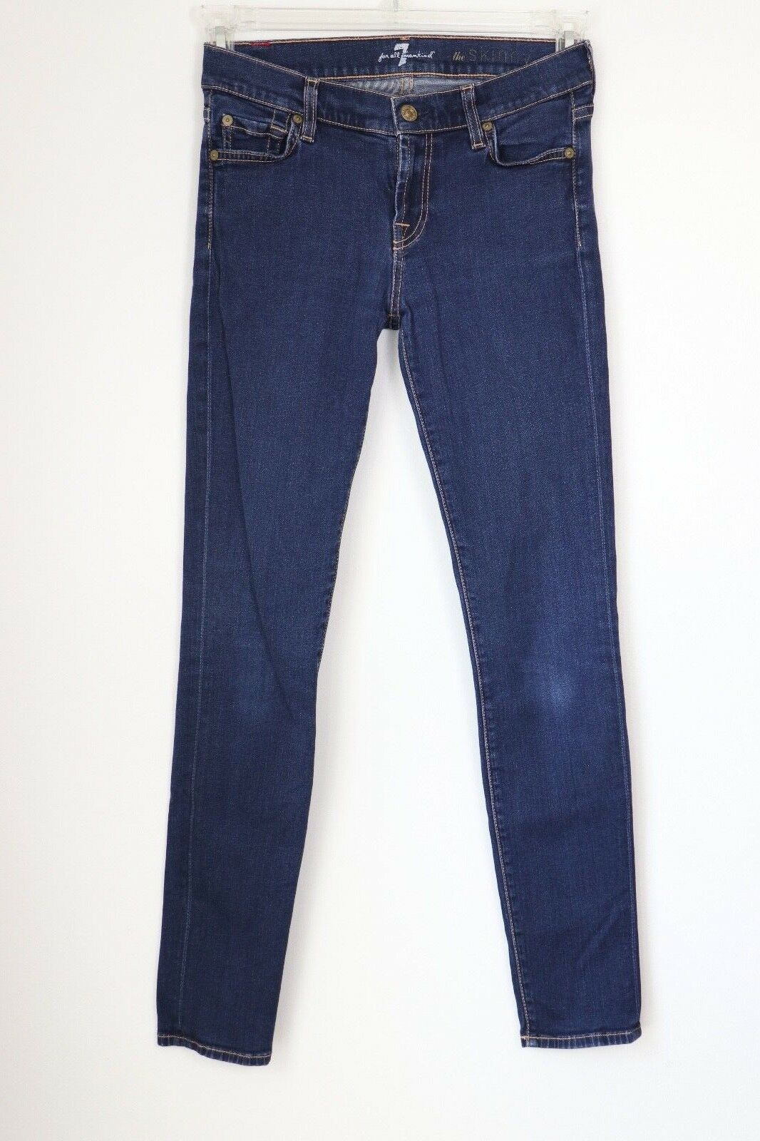 7 For All Mankind The Skinny Jean - bluee Size 26  Retail Price139.99