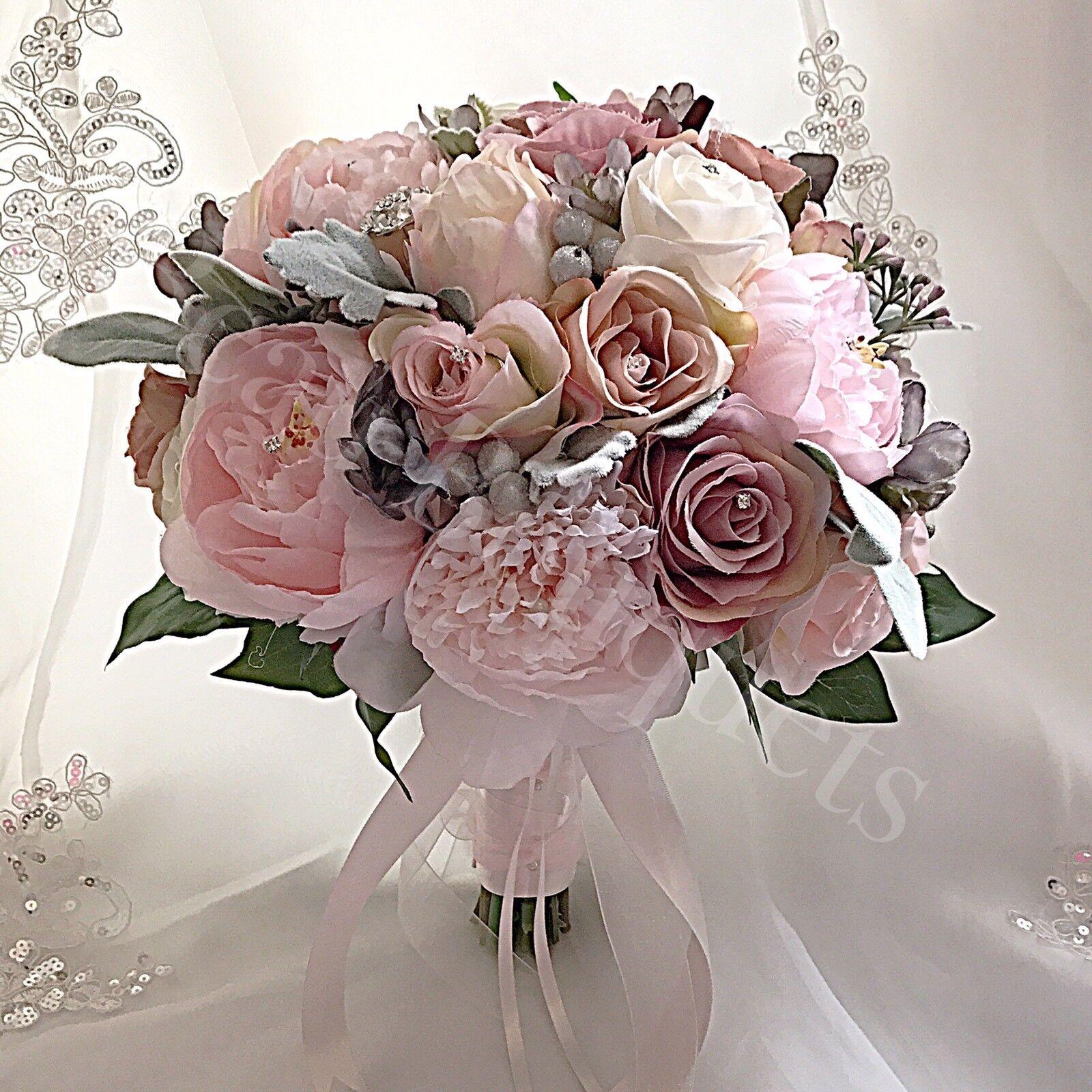 Wedding flowers vintage peony rose bride bouquet blush pink ivory wedding flowers vintage peony rose bride bouquet blush pink ivory grey mightylinksfo