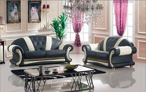 Image Is Loading Versace Leather Sofa 3 2 In Stock