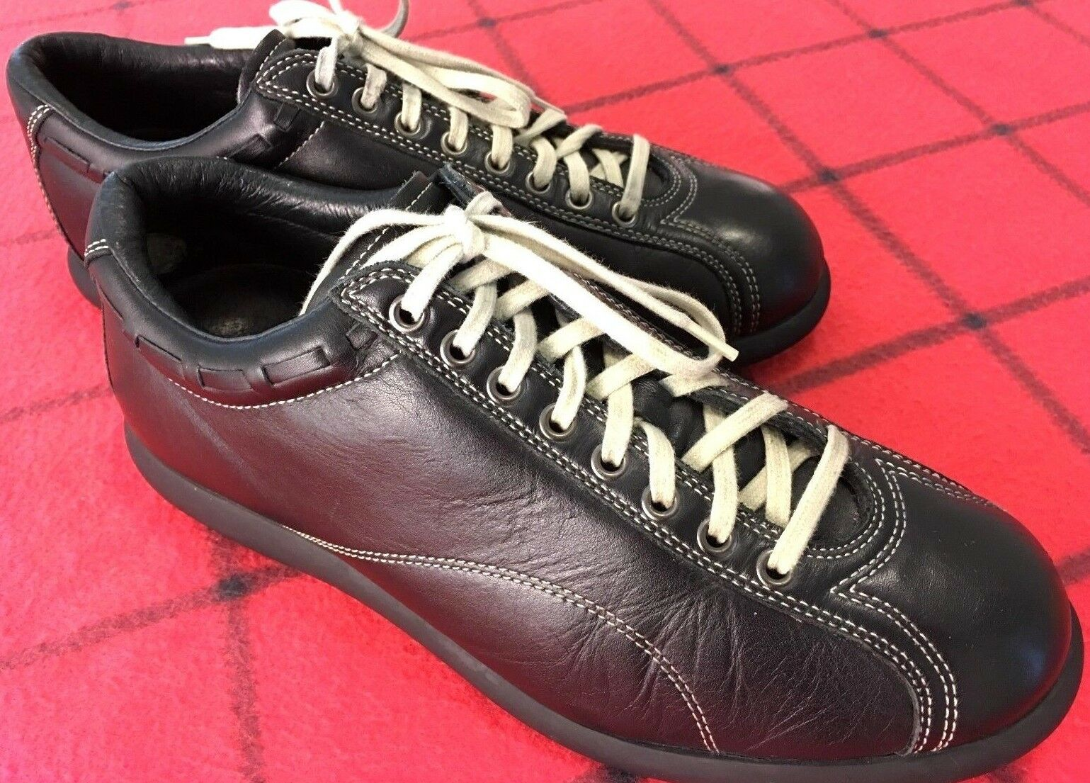 HYDE hommes Sz 10.5 BLK PREMIUM QUALITY COMFORT UPPER/LINING LEATHER ATHLETIC Chaussures