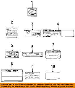 image is loading lexus-toyota-oem-1995-ls400-labels-vacuum-hose-