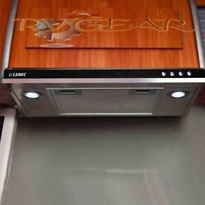 range hood 12 volt 2 speed led d l caravans rv campers pop. Black Bedroom Furniture Sets. Home Design Ideas